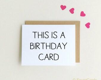 Birthday Card, Simple Birthday Card, Simply Stated, Happy Birthday, Basic Birthday, Obligatory Birthday Card {SKU: FC161}