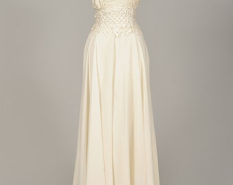 1960 Crochet And Lace Vintage Wedding Dress
