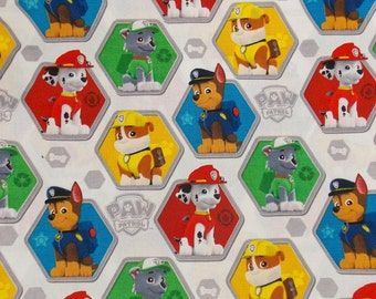 Paw Patrol Fabric BTY BTHY Craft Fabric Dog Fabric Cartoon Fabric Kids Fabric Quilting Fabric Cotton Fabric Pillow Fabric Curtain Fabric