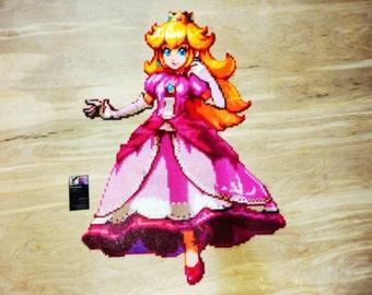 Princess Peach - Perler Bead Art (8,600 Beads)