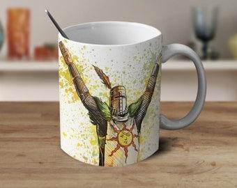 Solaire of Astora Dark Souls Mug, Dark Souls gift, Dark Souls watercolor, Dark souls 3, Gamer Gifs, Geek Mug, Geek Coffee Mug
