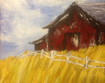 Abstract Barn Painting