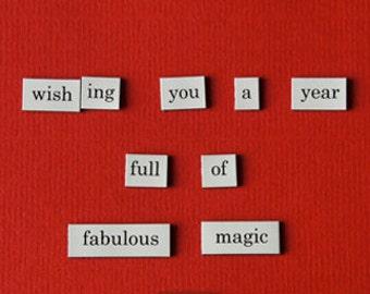 Postkaart A6 - Wishing you a year