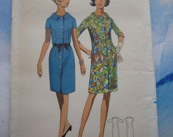 Butterick 4535 1967 Dress Sewing Pattern 20 1/2