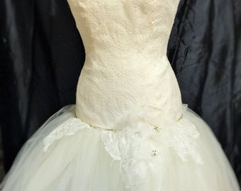 Custom made Lace and Tulle Wedding Gown