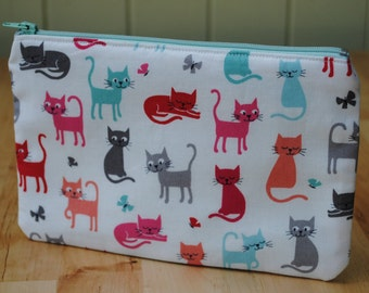 Small Make-Up/Cosmetics Bag featuring Cats