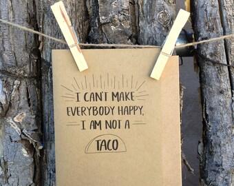 Happy Taco Greeting Card