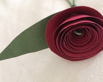 Custom mini-flower to match your wedding colors