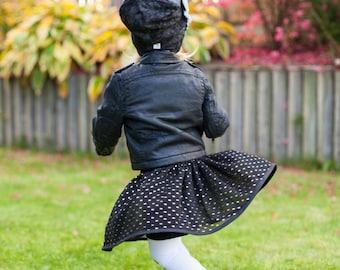 Black sequin skirt | Etsy