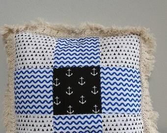Beach & Blvd Patchwork Pillow (D)