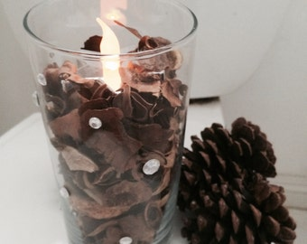 Potpourri Bowl With LED Candle