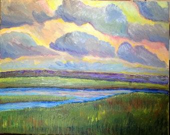Irish Evening Sky Original Art
