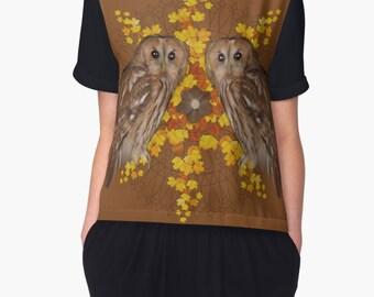 Tawny Owl Chiffon Top