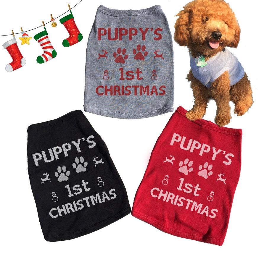 First Christmas Dog Shirt