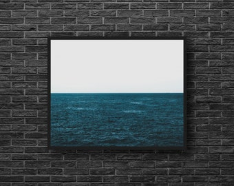 Dark Blue Sea Photo - Sea Photo Print - Seascape Photo - Nature Photo Print - Dark Blue - Sea Wall Art - Sea Wall Decor - Living Room Decor
