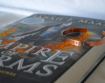 "Bracelet: ""Fireheart"" inspired by Throne of Glass"