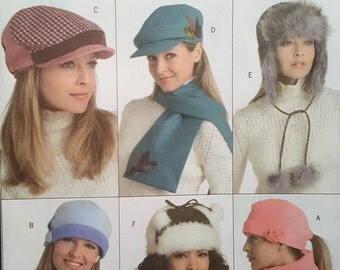 Butterick Paper Pattern - B4883 - Hats and Scarves