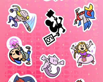 "Super Smash Bros 6x4"" Sticker Sheet #2"