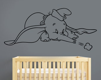 Dumbo Wall Sticker Vinyl Decal Disney Movie Art Decorations for Home Childrens Kids Room Nursery Decor dumb3