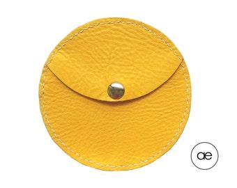 Purse round yellow