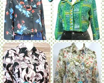Tops/Blouses ~ Vintage ~ Wholesale Lot ~ Four Blouses & Tops   Vintage Tops   Vintage Blouses   Vintage Cloting Lots