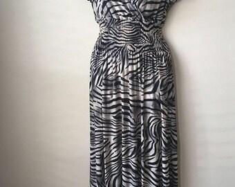 Maxi dress, summer dress, zebra print dress, long dress