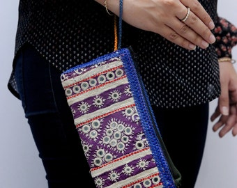 Colorful Zippered Clutch Wristlet 1004