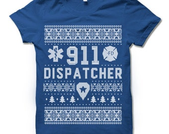 911 Dispatcher Christmas Shirt | 911 Dispatcher Gifts | 911 Responder Thank You Gift for Men Women | 911 Christmas Gift