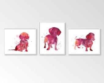 Dachshund Wall Art dachshund art print   etsy