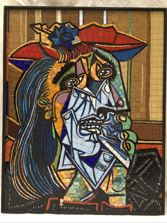 picasso 39 s weeping woman glass mosaic. Black Bedroom Furniture Sets. Home Design Ideas