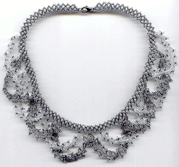pattern seed beaded necklace beading patterns necklace