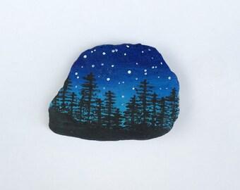 Night Sky Rock Painting