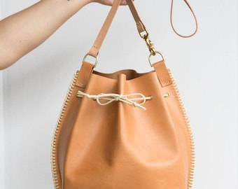 Everyday Leather Bucket Tote