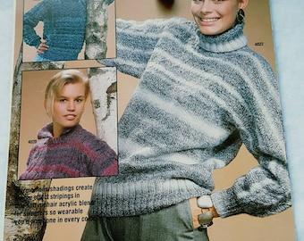 1987 Unger Escapade Women's Sweaters Knitting Pattern Leaflet ReTrO