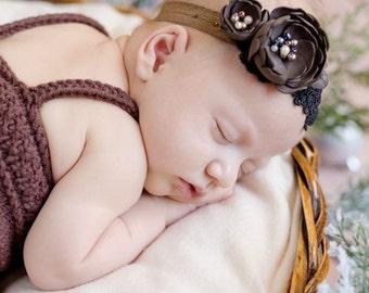 baby shower, peony hair, coffe headband, baby photo studio, baby flower, first baby photo, baby headband, baby girl jewellery, photoshoot