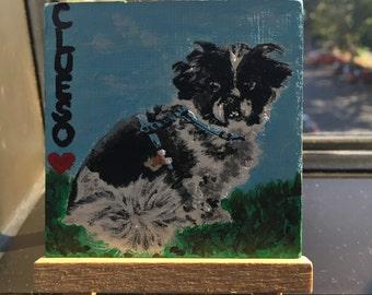 Sample item - Custom pet memorial portrait