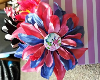 Blue and Pink Flower