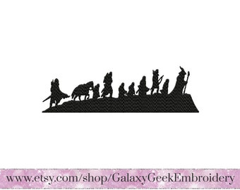 Lord of the rings Embroidery Design geek embroidery design hobbit embroidery design elven embroidery nerd design lotr embroidery geek gift