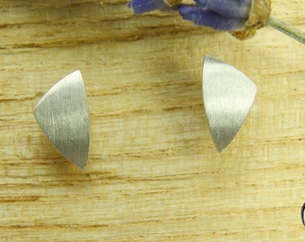 Earrings Silver 925 /-, triangle dash Matt