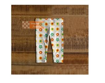Cute modern flower toddler, baby leggingsKids and baby leggings