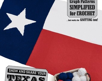 Republic of Texas - Lone Star State Flag Afghan Pattern - fun and easy for crochet or knit!