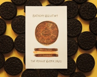 Peanut Butter Oreo Birthday Biscuit Painting