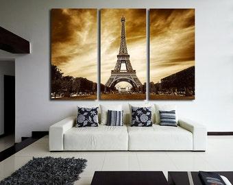 Eiffel Tower Photo Paris Canvas Paris City Eiffel Tower Print Cityscape Wall Art Cityscape Wall Decor Skyline Canvas City Canvas City Print