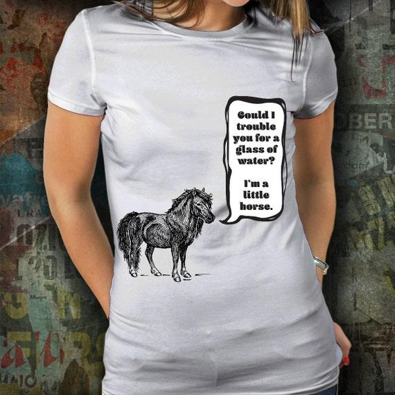 Horse shirt / shetland pony womens tshirt / equestrian clothing / equestrian gifts / horse gifts / horse clothing / punny shirts / puns