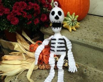 Mr. Bones Hanging Crochet Skeleton