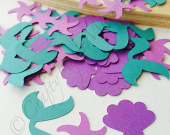 Mermaid Tail and Sea Shells Party Confetti