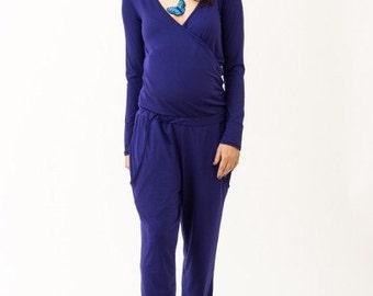 Maternity playsuit Nursing jumpsuit Oversize romper Plus size salopette Wide leg playsuit Sleeveless jumpsuit Nursing romper Pregnancy pants