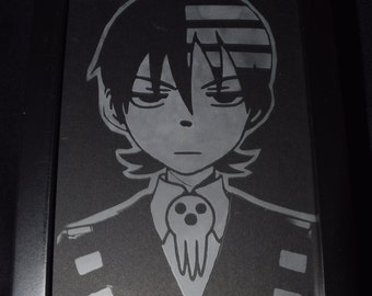 Soul Eater Inspired Etched Picture Frame