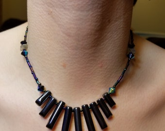 Hematite and Labradorite Necklace