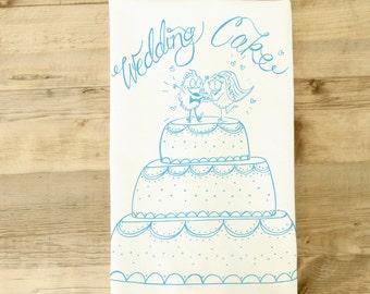 Wedding Cake dish towel Love Gift Tea Towel bridal shower kitchen theme